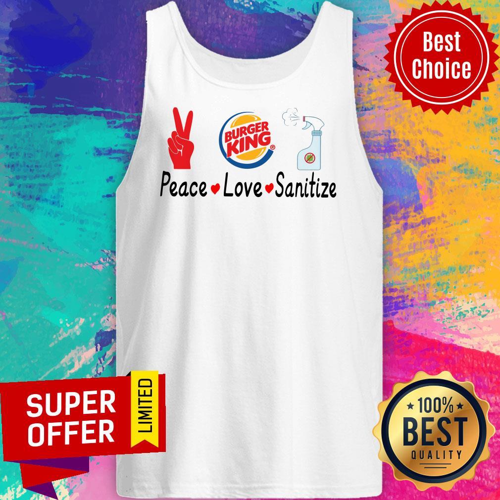 Official Burger King Peace Love Sanitize Tank Top