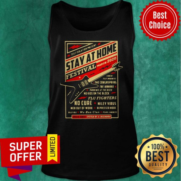 Official Self Isolation Present Stay At Home Festival Tank Top