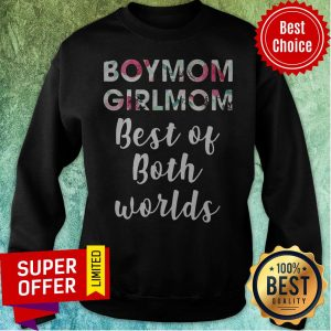 Official Vintage Boy Mom Girl Mom Best Of Both Worlds Sweatshirt