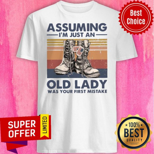Assuming I'm Just An Old Lady Was Your First Mistake Baseball Shirt