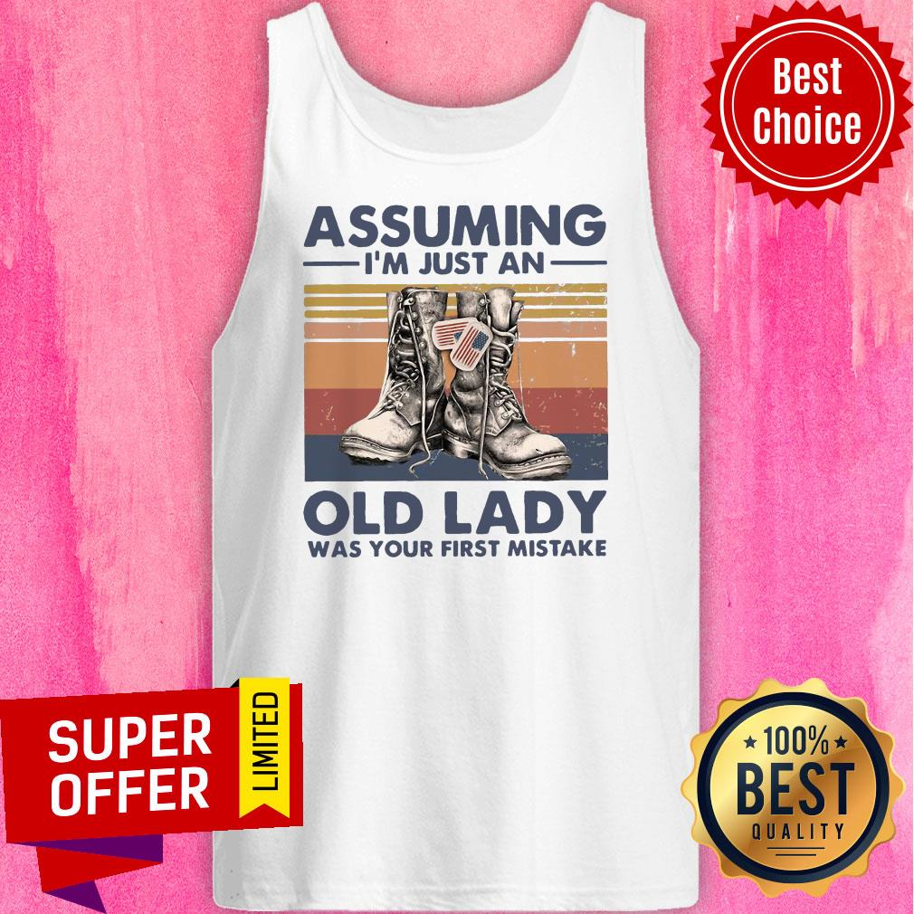Assuming I'm Just An Old Lady Was Your First Mistake Baseball Tank Top