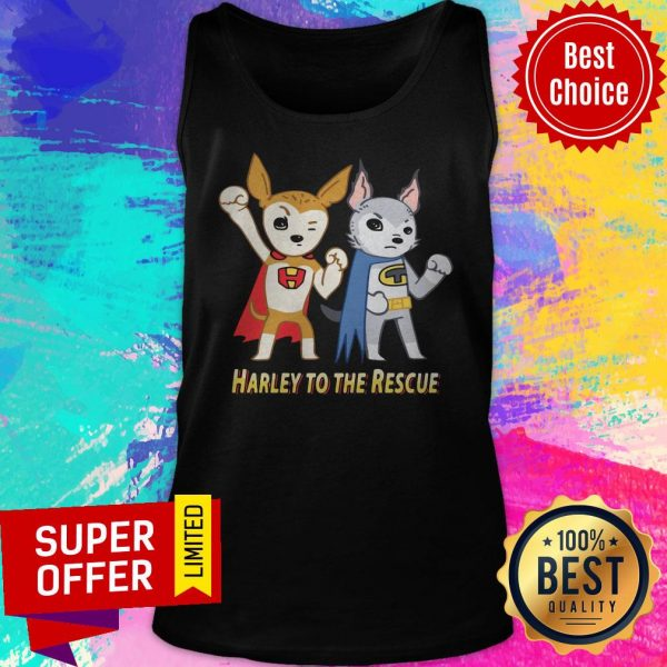 Superheroes Against Puppy Mills Harley To The Rescue Tank Top