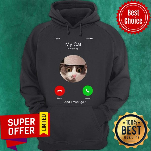 Top My Cat Is Calling And I Must Go Hoodie