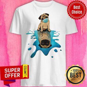 Top Pug Dog Face Mask Shirt