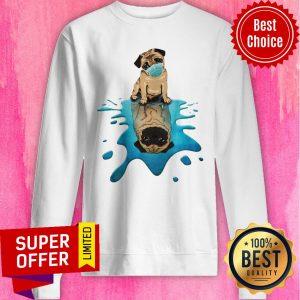 Top Pug Dog Face Mask Sweatshirt