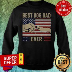 Top Vintage Best Dog Dad Ever Sweatshirt