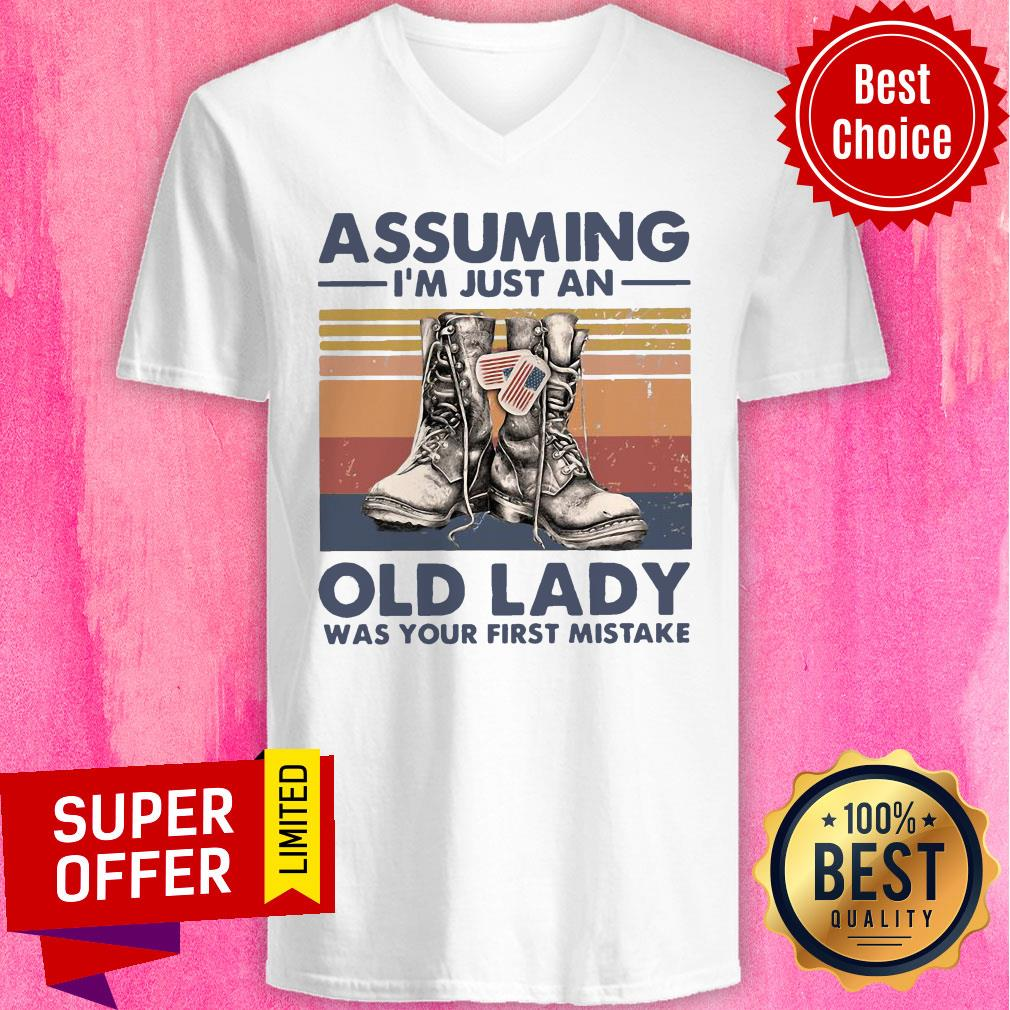 Assuming I'm Just An Old Lady Was Your First Mistake Baseball V-neck