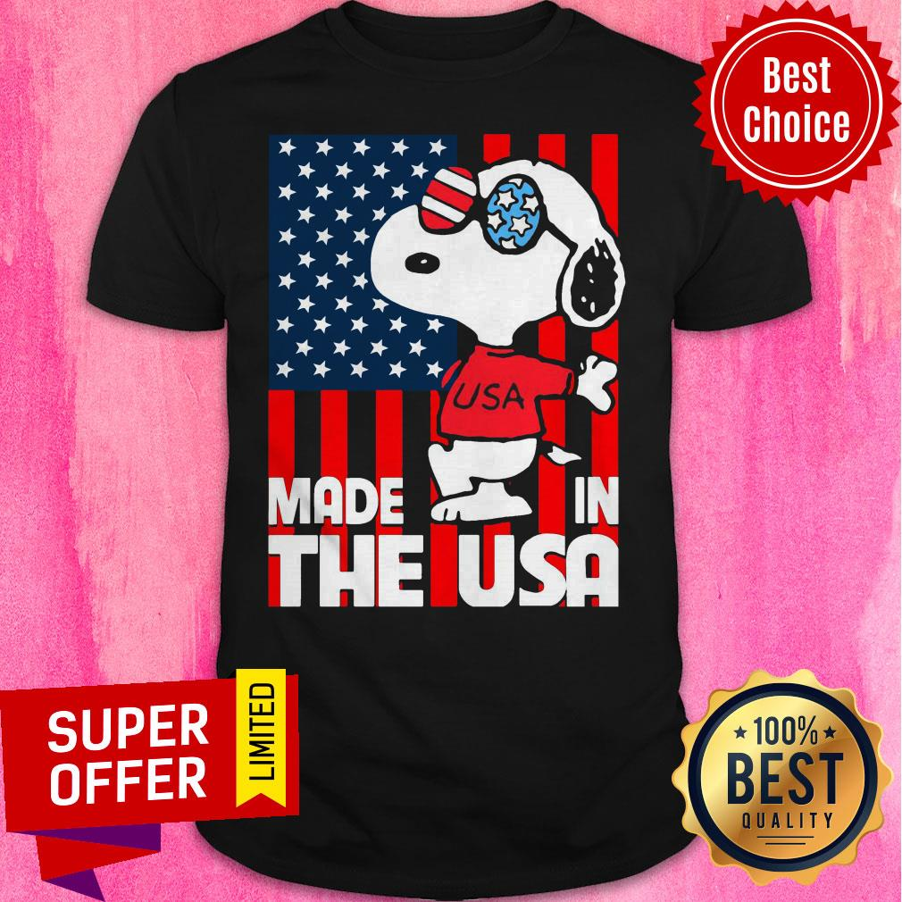 Awesome American Flag Made In The USA Snoopy Shirt