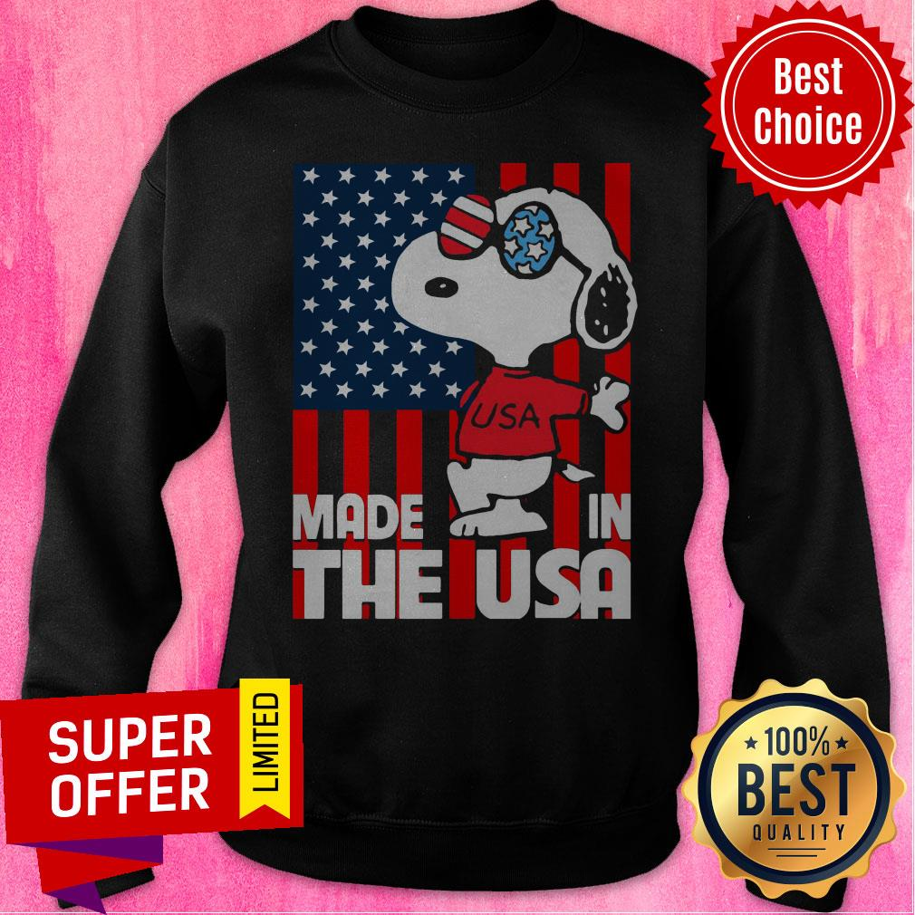Awesome American Flag Made In The USA Snoopy Sweatshirt