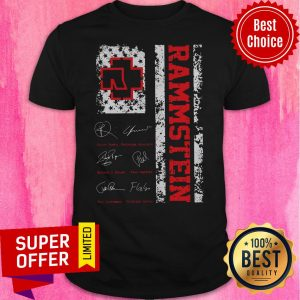 Awesome American Flag Signatures Rammstein Shirt