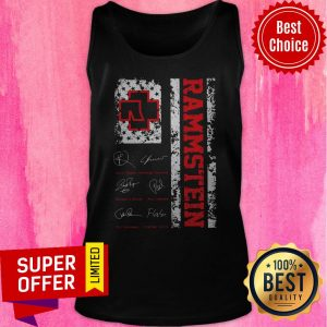 Awesome American Flag Signatures Rammstein Tank Top
