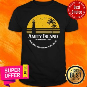Awesome Amity Island Jaws Inspired Movie Shark Printed Shirt