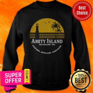 Awesome Amity Island Jaws Inspired Movie Shark Printed Sweatshirt