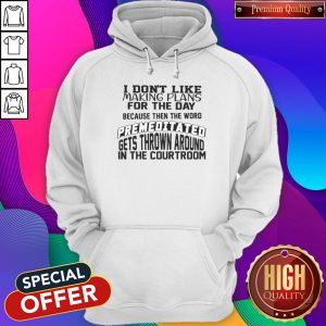 Awesome I Don't Like Making Plans Hoodie