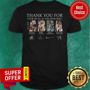 Nice ABBA 1972 1982 Thank You For Your Music And The Memories Shirt