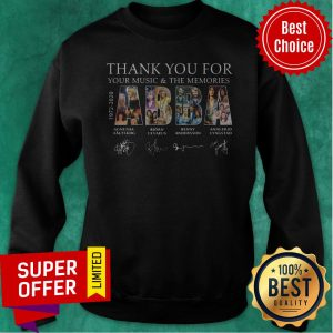 Nice ABBA 1972 1982 Thank You For Your Music And The Memories Sweatshirt