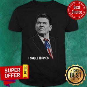 Nice Ronald Reagan I Smell Hippies Shirt