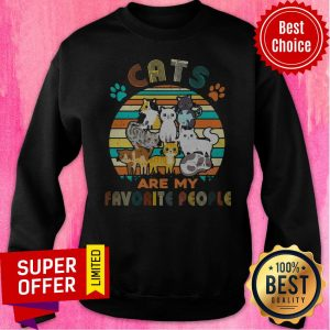 Official Cats Are My Favorite People Vintage Sweatshirt