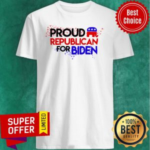 Official Proud Republican For Biden Shirt
