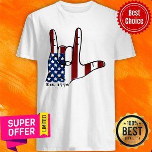 Premium Signature Langue Est 1776 American Shirt