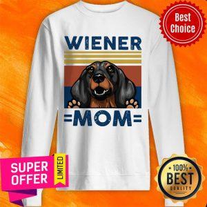 Top Dachshund Wiener Mom Vintage Sweatshirt