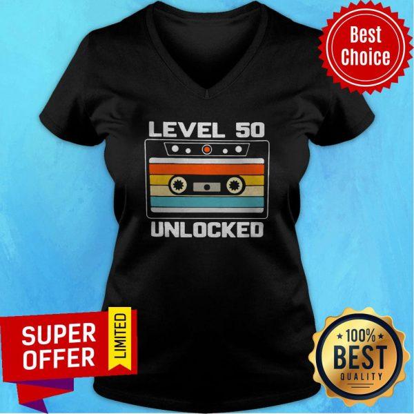 Top Level 50th Unlocked Vintage V-neck