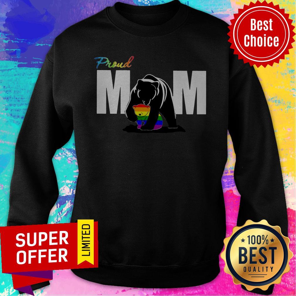 Top Proud Mama Bear LGBT Sweatshirt