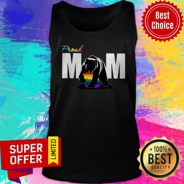 Top Proud Mama Bear LGBT Tank Top