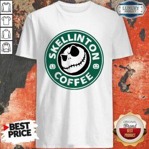 Top Skellington Coffee Shirt