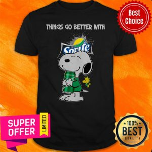 Top Snoopy Hug Sprite Lemon Lime Things Go Better With Sprite Shirt