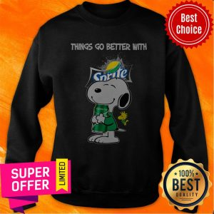 Top Snoopy Hug Sprite Lemon Lime Things Go Better With Sprite Sweatshirt
