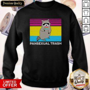 Top Vintage Pansexual Trash Sweatshirt