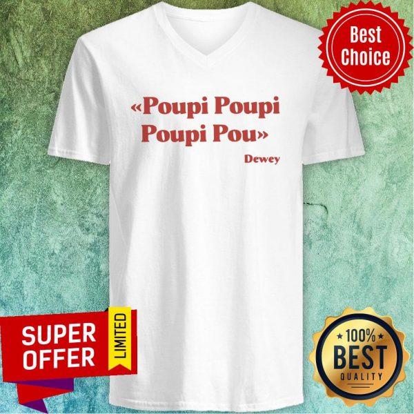 Awesome Poupi Poupi Poupi Pou Dewey V-neck