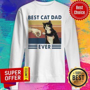 Funny Best Cat Ever Vintage Sweatshirt