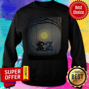 Nice Stitch And Toothless Talking To The Moon Sweatshirt