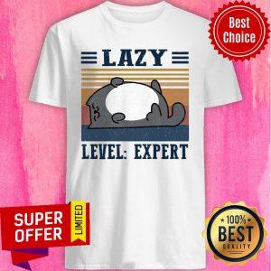 Premium Lazy Level Expert Vintage Shirt
