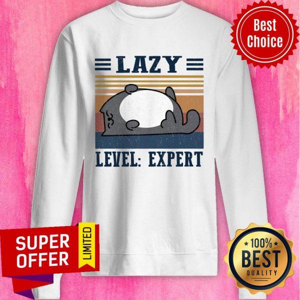 Premium Lazy Level Expert Vintage Sweatshirt