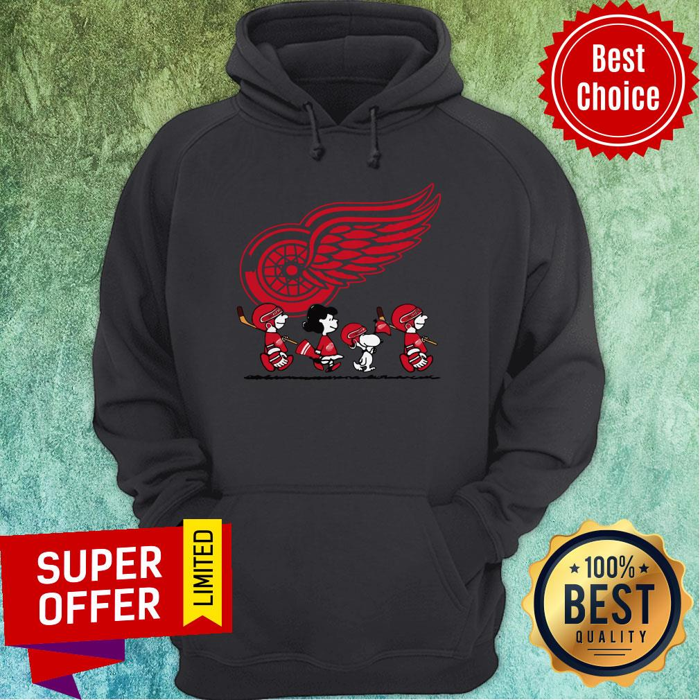 Premium Red Wings Ice Hockey Snoopy NHL Hoodie