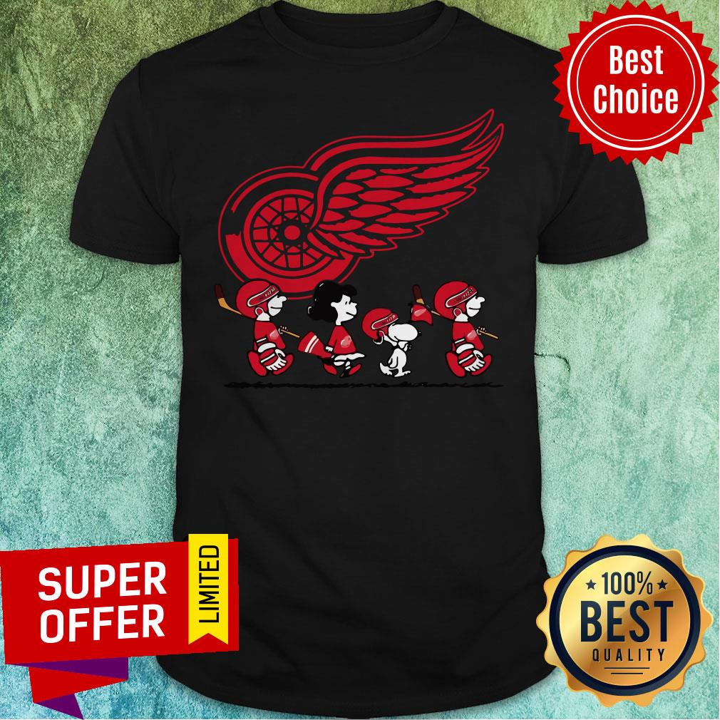 Premium Red Wings Ice Hockey Snoopy NHL Shirt