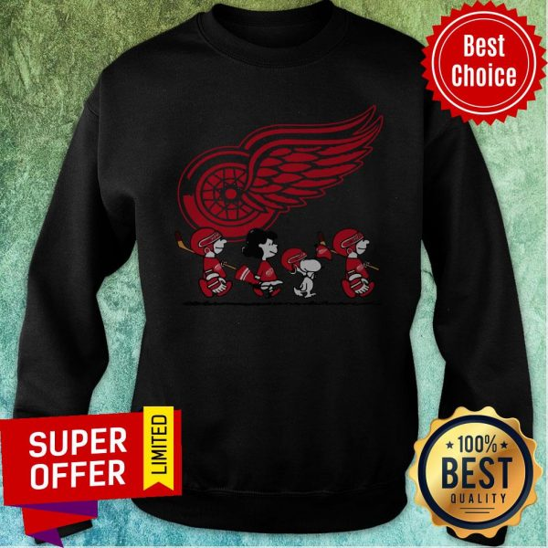Premium Red Wings Ice Hockey Snoopy NHL Sweatshirt