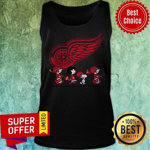 Premium Red Wings Ice Hockey Snoopy NHL Tank Top