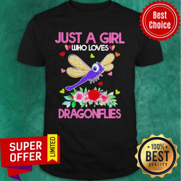 Top Just A Girl Who Loves Dragonflies Shirt