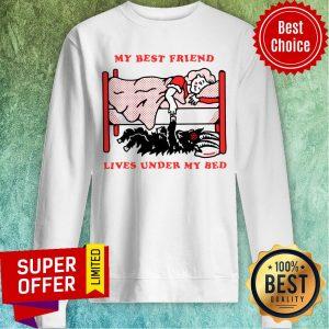Top My Best Friend Lives Under My Bed Sweatshirt