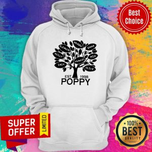 Awesome Coolspod Personalized EST 1998 Poppy Tree Hoodie