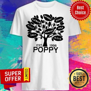 Awesome Coolspod Personalized EST 1998 Poppy Tree Shirt