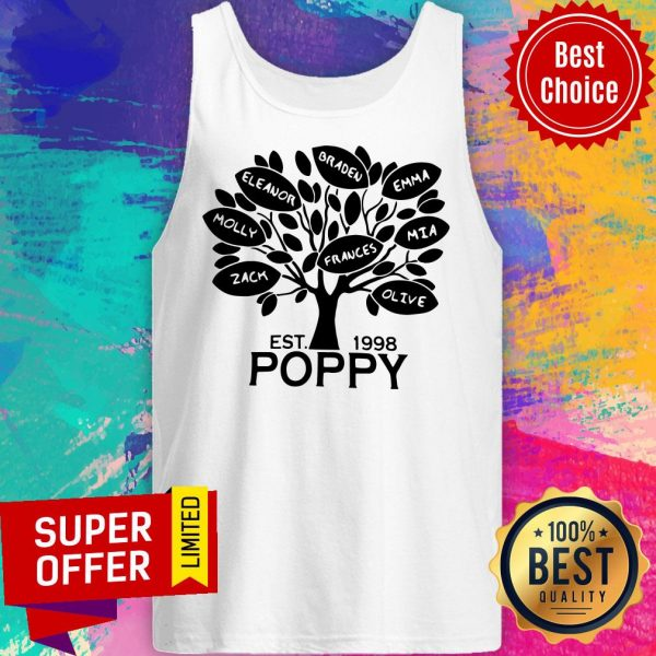 Awesome Coolspod Personalized EST 1998 Poppy Tree Tank Top