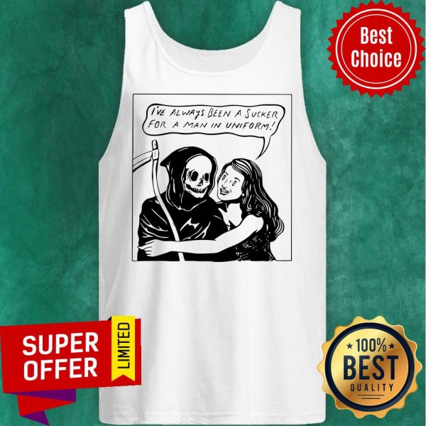 Awesome Man In Uniform Ringer Tank Top