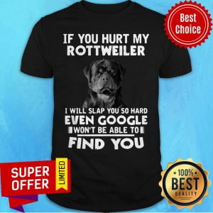 If You Hurt My Rottweiler I Will Slap You So Hard Even Google Wont Be Able To Shirt