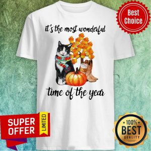 It's The Most Wonderful Time Of The Year Cat Halloween Shirt