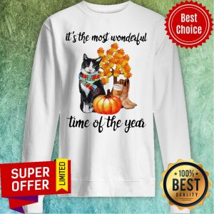 It's The Most Wonderful Time Of The Year Cat Halloween Sweatshirt
